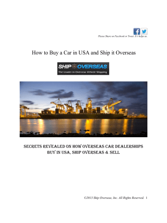How to Buy a Car in USA and Ship it Overseas - Ship Overseas
