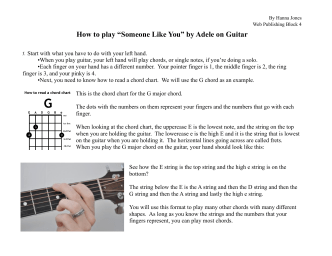 How to play guitar Hanna