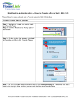 Multifactor Authentication – How to Create a Bookmark in AOL 9