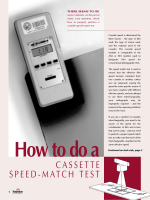 How to do a Cassette Speed-Match Test - Radiation Update Archives
