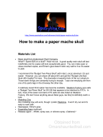 Obtained from Omarshauntedtrail.com How to make a paper mache