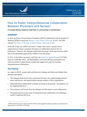 How to Foster Interprofessional Collaboration Between - CAIPE