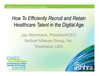 How To Efficiently Recruit and Retain Health Care Talent in the