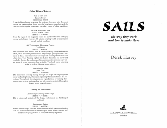 Other Titles of Interest How to Trim Sails