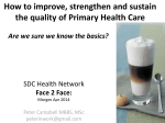 How to improve, strengthen and sustain the quality of Primary Health