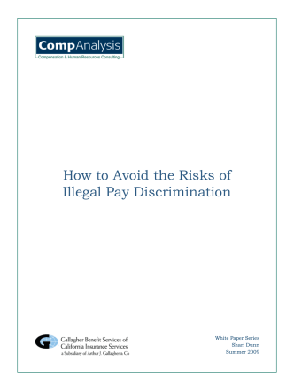 How to Avoid the Risks of Illegal Pay Discrimination - Compensation