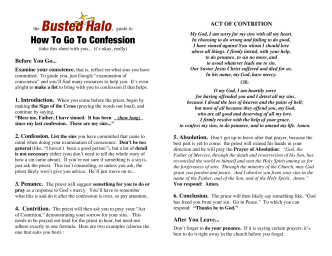 How To Go To Confession - Busted Halo