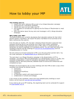 ATLs How to Lobby your MP