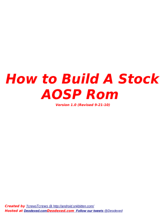 How to Build A Stock AOSP Rom - SnkBitten Motorola Droid ROM