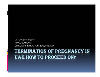 TERMINATION OF PREGNANCY IN UAE HOW TO PROCEED ON?