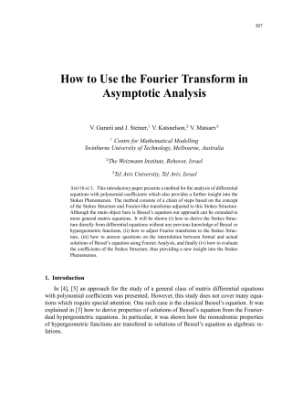 How to Use the Fourier Transform in Asymptotic - Prometheus Inc.