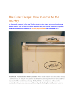 The Great Escape: How to move to the country - The Buying Solution