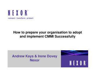How to prepare your organisation to adopt and implement CMMI