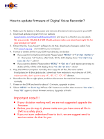 How to update firmware of Digital Voice Recorder? Important note!!!