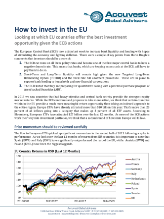 How to invest in the EU - Accuvest Global Advisors