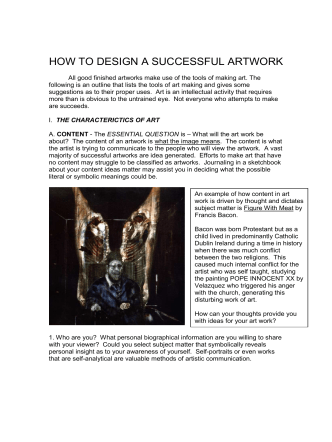 HOW TO DESIGN A SUCCESSFUL ARTWORK - Knox County