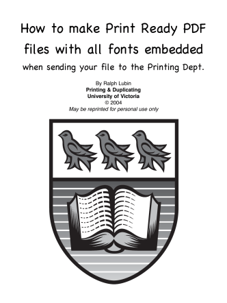 How to make Print Ready PDF files with all fonts - UVic Bookstore