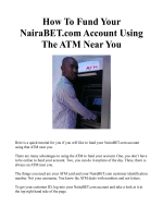 How To Fund Your NairaBET.com Account Using The ATM Near You