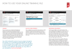 HOW TO USE YOUR ONLINE TRAINING FILE - ICAEW