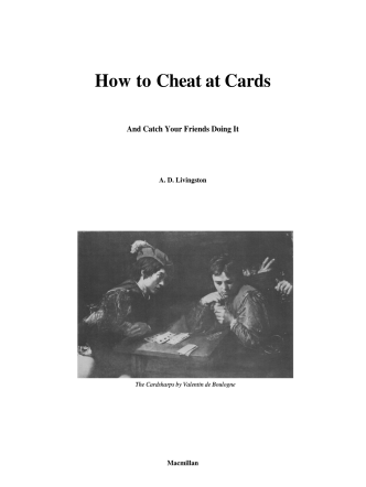 How to Cheat at Cards - Armchair Patriot