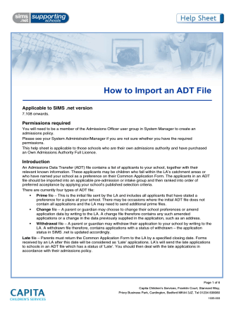 How to Import an ADT File - EiS Kent