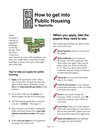 How to get into Public Housing - Sitemason