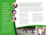 How to be an Ironman for Anna (IFA) Requirements Reimbursement
