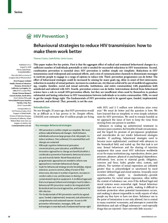 Behavioural strategies to reduce HIV transmission - World Health