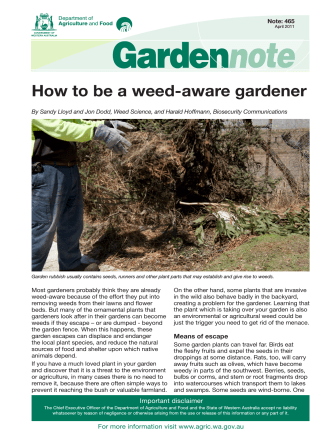 How to be a weed-aware gardener - agric.wa.gov.au
