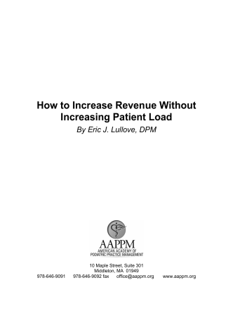 How to Increase Revenue Without Increasing Patient Load