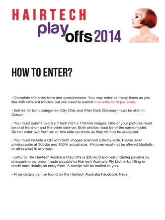 How TO ENTER? - Hairtech Australia