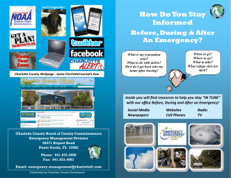 How To Stay Informed Brochure 2014.pub - Charlotte County