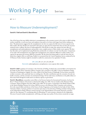 Working Paper 13-7: How to Measure Underemployment?