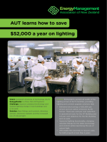 AUT learns how to save $52,000 a year on lighting - Energy