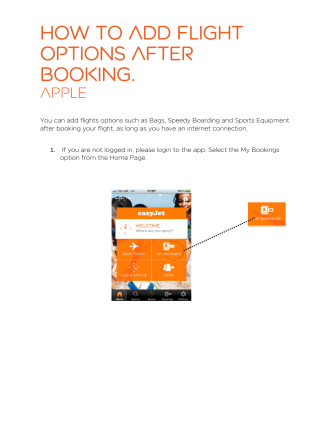 How to add flight options after booking. - EasyJet