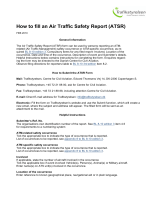 How to fill an Air Traffic Safety Report (ATSR) - Trafikstyrelsen