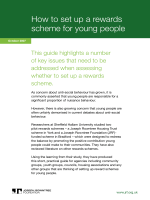 How to set up a rewards scheme for young people - Joseph