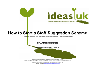 How to Start a Staff Suggestion Scheme - Blog