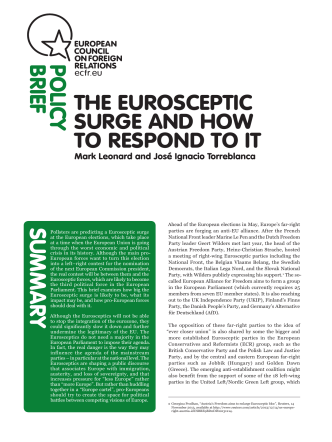 THE EUROSCEPTIC SURGE AND HOW TO RESPOND TO IT