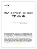 How To Invest In Real Estate With Only $10 - Zenect Realty News
