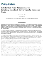 Privatizing Superfund: How to Clean Up Hazardous - Cato Institute