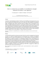 How to evaluate the excavatability of controlled low-strength