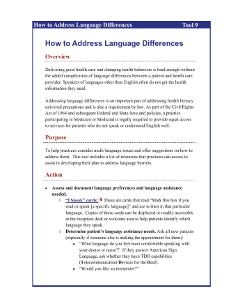 How to Address Language Differences