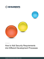 How to Add Security Requirements into Different - SD Elements