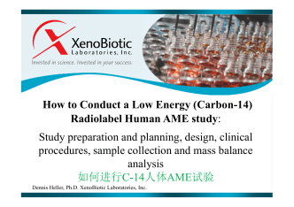 How to Conduct a Low Energy (Carbon-14) Radiolabel Human AME