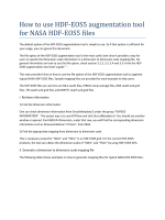 How to use HDF-EOS5 augmentation tool for NASA HDF-EOS5 files