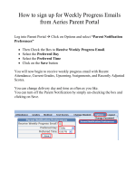 How to sign up for Weekly Progress Emails from Aeries Parent Portal