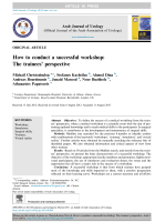 How to conduct a successful workshop: The - ResearchGate