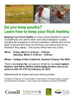 Do you keep poultry? Learn how to keep your flock healthy.