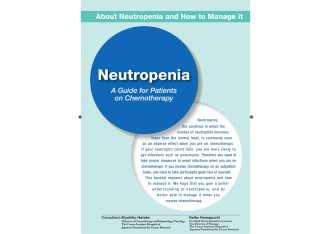 About Neutropenia and How to Manage it A Guide for Patients on